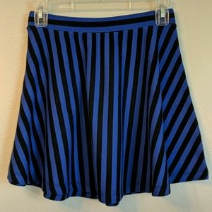 Striped Skater Style Skirt
